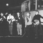 John Cremer een blauwe maandag bij the whisky four in 1965 vlnr. Loek Keulen, Theo Kiewied, Leon Cleutjens, John Cremer en Frits van Ooteghem