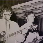 Paul en Hans Boots, gitarist vanZ.